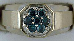 Gentleman's Blue Diamond Ring