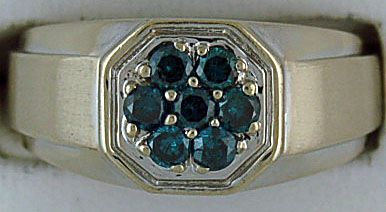 Gentleman's Blue Diamond Ring