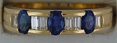 Ladies Sapphire and Diamond Band