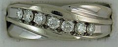 Gentleman's 1/2ctw Round Cut Diamond Wedding Band