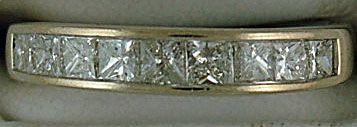 9/10ctw Princess Cut Diamond Band