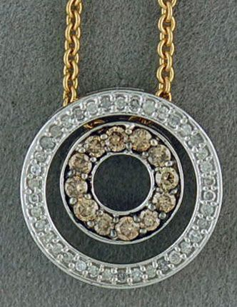 "1/2ctw Diamond Eternal Love Pendant on an 18"" Chain"