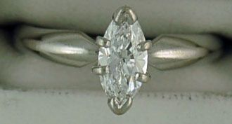 1/2ct Marquise Cut Diamond Solitaire Ring