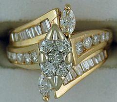 Ladies 1-1/2ctw Illusion Ring