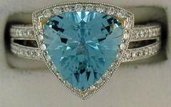 Ladies 1ctdw Diamond and Topaz Ring