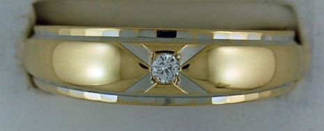 1/20ct Diamond Two-Tone Band