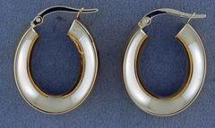 Yellow Gold Hollow Hoop Earrings