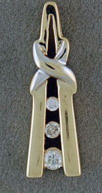 1/10ctw Channel set Diamond Pendant