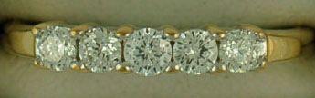 Ladies 1/2ctw Two-Tone Diamond Band