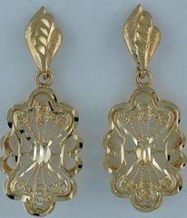 Ladies Filigree Style Danlge Earrings