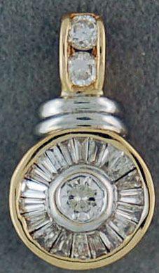 1ctw Diamond Circle Pendant