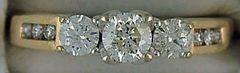 Ladent ladies 9/10ctw Past, Present and Future Diamond Ring