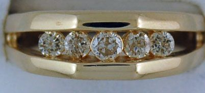 Gentleman's 5 diamond Band