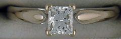 Ladies 5/8ct Princess Cut Diamond Solitaire Ring