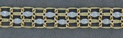 "7"" Diamond Cut Flat Link Bracelet"