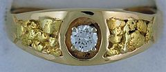 Gentleman's .30ct Diamond Nugget Ring