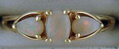 Ladies 3 Opal Ring