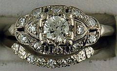 Ladies 5/8ctw Period Piece Diamond Wedding Set