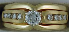 Ladies 5/8ctw Yellow Gold Diamond Wedding Ring