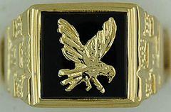 Gentleman's Black Onyx Signet Ring