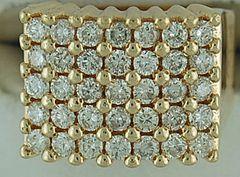 Ladies 1-1/2ctw Large Shank Diamond Cluster Ring
