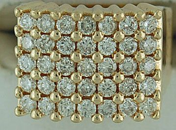 Ladies 1-1/2ctw Large Shank Diamond Cluster Ring