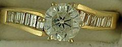 1-1/2ctw Diamond Engagement Ring
