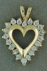 1/3ctw Diamond Heart Pendant