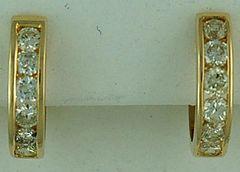 1ctw Diamond Hoops Earrings