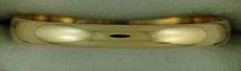 2.1mm Wide Plain Gold Band