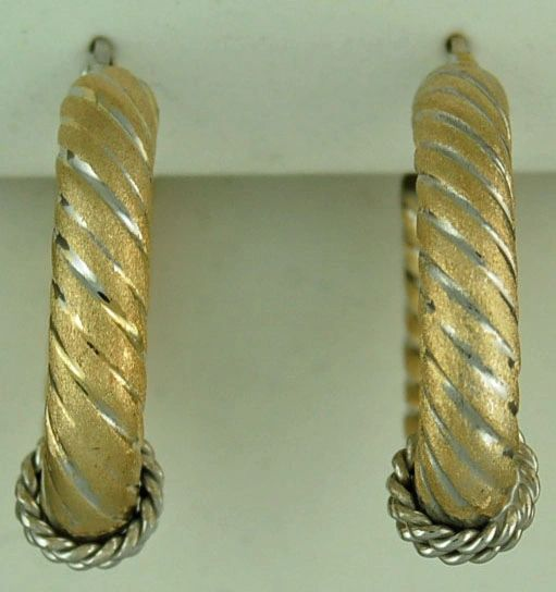 Two-tone Rope Hoops