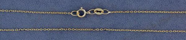 """16"""" Fine Link Pendant Chain"""