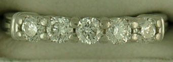 5/8ctw Diamond and Platinum Band