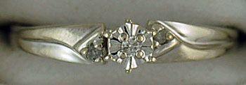 Ladies Illusion Setting Promise Ring