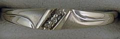 3 Diamond Chip Band