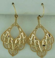 Filigree Work Dangle Earrings