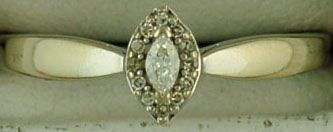 1/8ctw Marquise and Round Cut Diamond Promise Ring