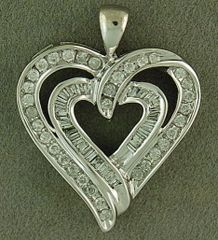 3/4ctw Diamond Heart Pendant