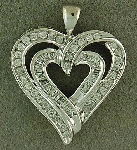 3/4ctw Diamond Heart Pendant