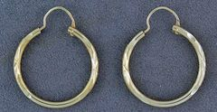 Small Pattern Hoops