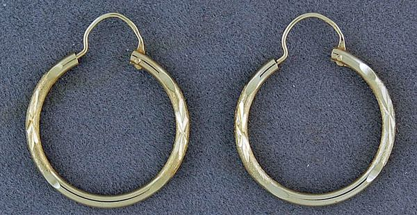 Small Pattern Hoops