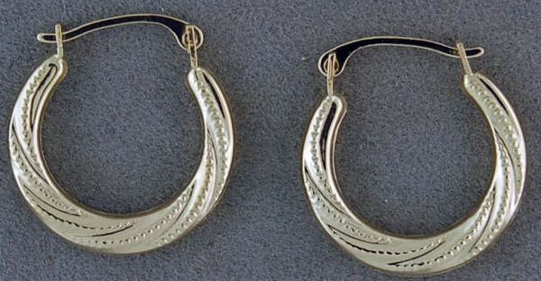 Small Twist Pattern Hoops