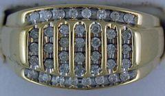 5/8ctw Gentlemans Diamond Cluster Ring