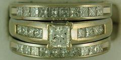 Ladies 2-1/4ctw Diamond Wedding Set