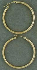 Ladies Medium Wheat Pattern Hollow Hoops