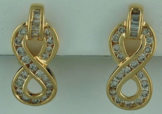 1ctw Diamond Infinity Earrings