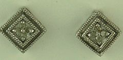 A pair of Square Diamond Earrings