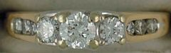 3/4ctw Past, Present and Future Roud Cut Diamond Ring