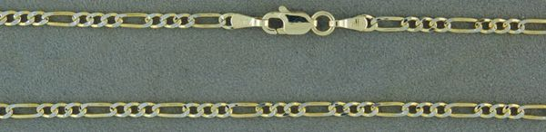 "Two-Tone 20"" Figaro Link Chain"