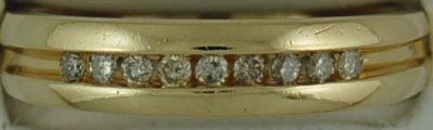 Gent's 1/4ctw Round Cut Diamond Band